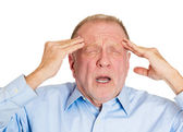 Man suffering from severe migraine — Stock Photo