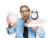 Man stressed from paying tuition on time — Stockfoto
