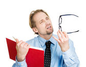 Man has vision problems — Stock Photo