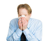 Worker with allergy — Stock Photo