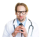 Doctor plotting new experiment treatment — Stock Photo
