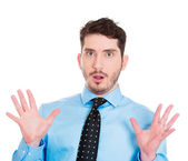 Man looking surprised — Stock Photo