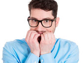 Young guy scared — Stock Photo