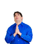 Man praying — Stock Photo
