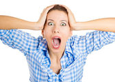 Shocked woman — Stock Photo