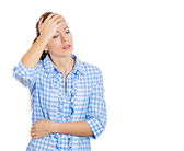 Woman having a bad day — Stock Photo