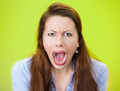 Yelling woman — Stock Photo