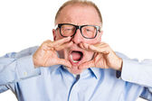 Yelling mature man — Stock Photo