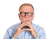 Mature man trying to plot something — Stock Photo