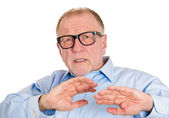 Mature man looking scared — Stock Photo