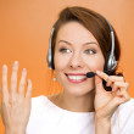 Female customer representative — Stock Photo