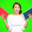 ������, ������: Woman deciding which book to choose
