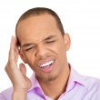Man with bad headache — Stock Photo #44001135