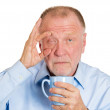 Mature man falling asleep — Stock Photo