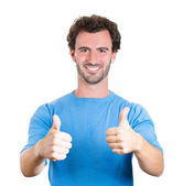 Man showing thumbs up sign — Stock Photo