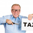 Cutting tax — Stock Photo