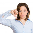 Thumbs down woman — Stock Photo