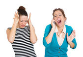 Obnoxious on phone — Stock Photo