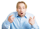 Shocked man — Stockfoto