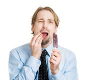 牙齿敏感 — 图库照片