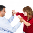 Arguing couple — Stock Photo
