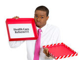 Healthcare reform in a box — Stock Photo