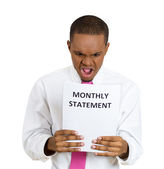 Bad monthly statement — Stock Photo