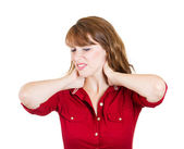 Neck pain — Stock Photo