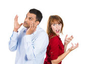 Arguing couple — Stock Photo