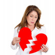 Heart broken woman — Stock Photo #45000921