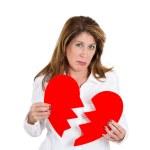 Heart broken woman — Stock Photo
