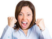Angry shouting — Stock Photo
