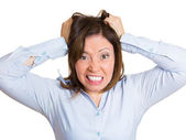 Hair pulling — Stock Photo