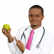 Apple a day keeps doc away — Stock Photo