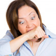 A frustrated crazy woman — Stock Photo #45252433