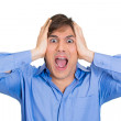 Man screaming hard — Stock Photo
