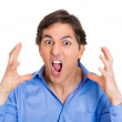 Annoyed man with hands in the air — Stock Photo #45252913