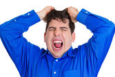 Frustrated fat man — Foto Stock