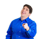 Man laughing at someone — Stock Photo