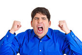 Man yelling — Stock Photo