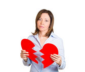 Heart broken woman — Stock Photo