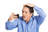Man losing hair — Stock Photo