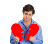 Man heart broken — Stock Photo
