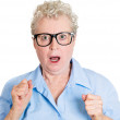 Shocked old woman — Stock Photo