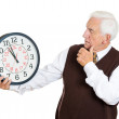 Old man under time pressure — Stock Photo