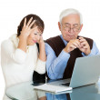Technology generation gap — Stock Photo