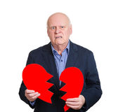 Broken heart old man — Stock Photo