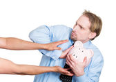 Don't steal my piggy — Stock Photo