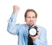 Banging the alarm clock — Stock Photo