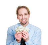 Happy to have money — Stock Photo
